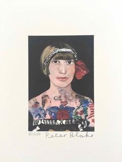 Tattooed People, Gloria: Limited Edition Print by Sir Peter Blake