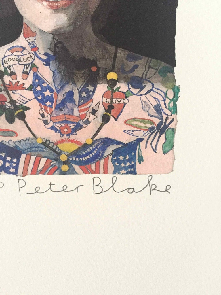 Tattooed People, Grace: Limited Edition Print by Sir Peter Blake For Sale 1