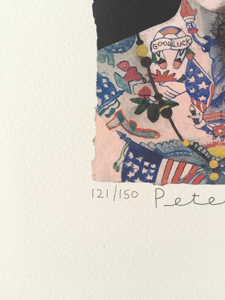 Tattooed People, Grace: Limited Edition Print by Sir Peter Blake For Sale 2