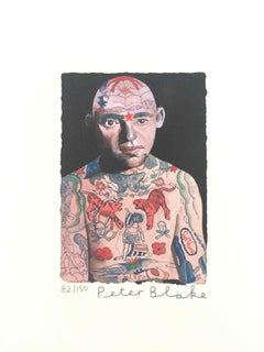 Tattooed People, Lex: Limited Edition Print by Sir Peter Blake