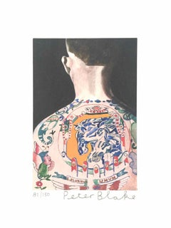 Tattooed People, Max: Limited Edition Print by Sir Peter Blake