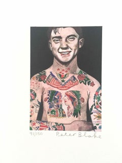 Tattooed People, Percy: Limited Edition Print by Sir Peter Blake