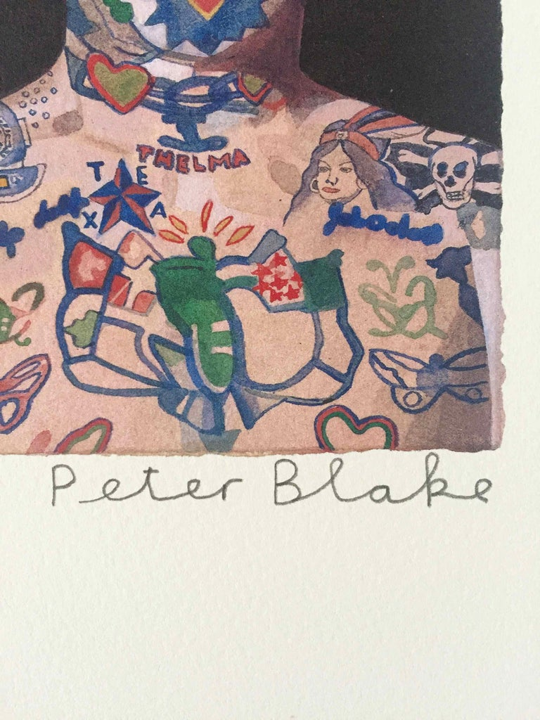 Tattooed People, Ron: Limited Edition Print by Sir Peter Blake For Sale 1