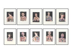Tattooed People: Set of 10 Limited Edition Prints by Sir Peter Blake