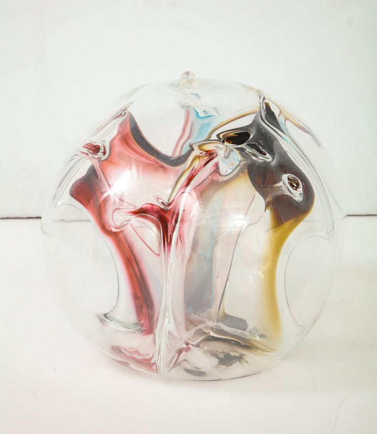 Peter Bramhall Glass Orb Sculpture In Good Condition For Sale In New York, NY