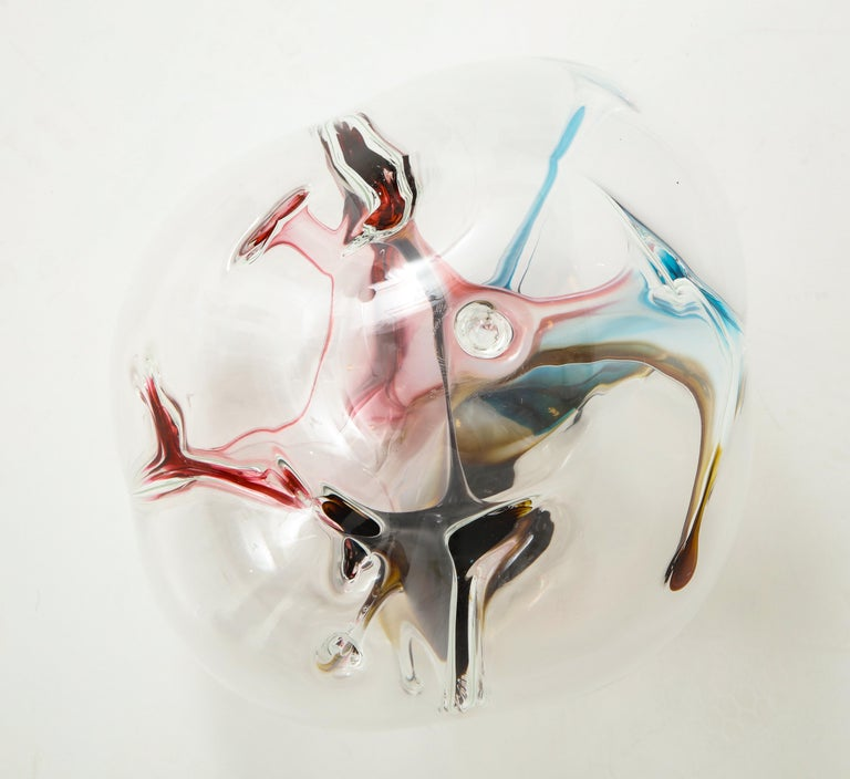 20th Century Peter Bramhall Glass Orb Sculpture For Sale