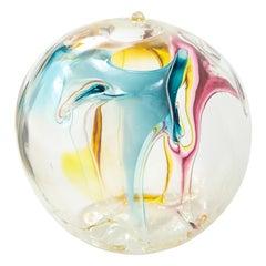 Peter Bramhall Glass Orb Sculpture