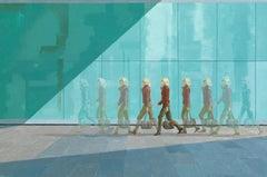 Commuter on Sutton Walk  original city landscape painting