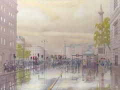 London - city landscape oil painting impressionism contemporary modern art