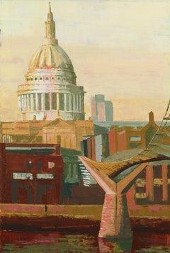 St Paul's. South original city landscape painting