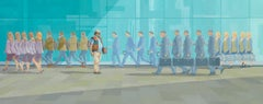 The Big Issue on Sutton Walk  original city landscape painting