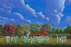 The Bowling Match, Wandsworth Common 2 original city landscape painting