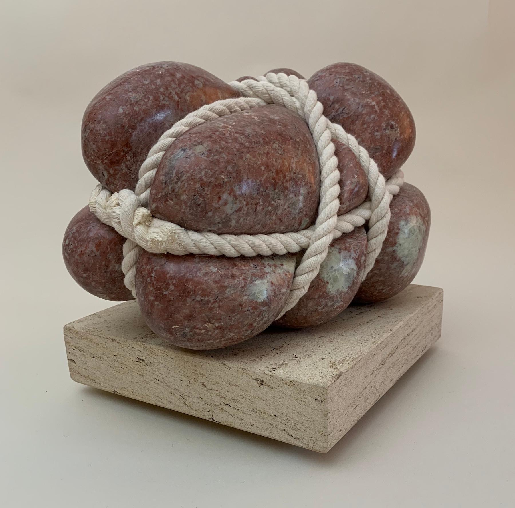 Saved by Peter Brooke-Ball - Rope and Stone Sculpture, abstract