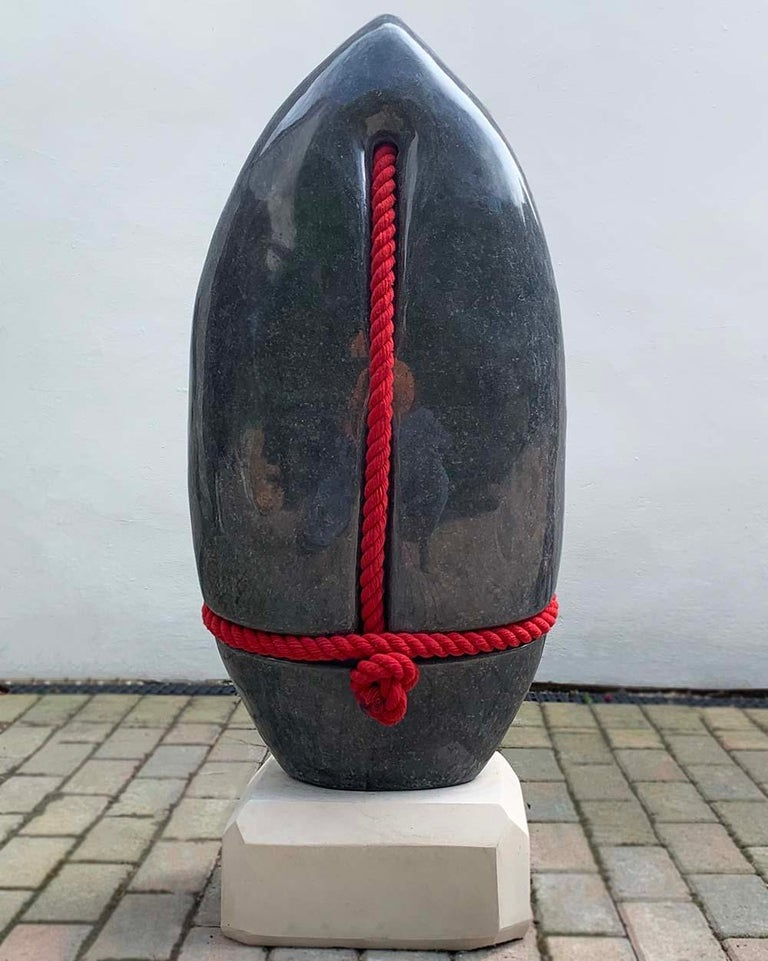 Silence by Peter Brooke-Ball - Rope and Stone Sculpture, abstract For Sale 1