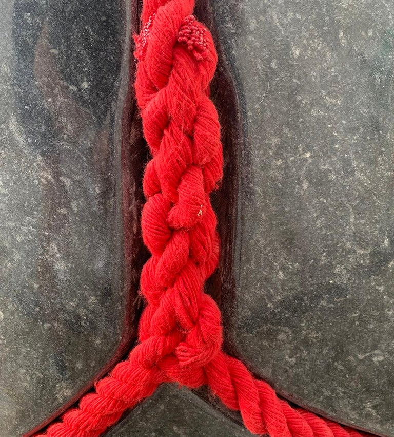 Silence by Peter Brooke-Ball - Rope and Stone Sculpture, abstract For Sale 3