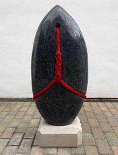 Silence by Peter Brooke-Ball - Rope and Stone Sculpture, abstract