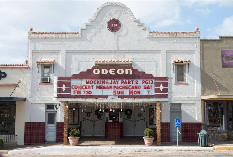 Peter Brown Color Photograph - Central Texas: Odeon Theater, Mason, Texas