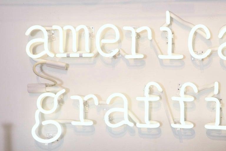 Modern Peter Buchman American Graffiti Neon, 2021 For Sale