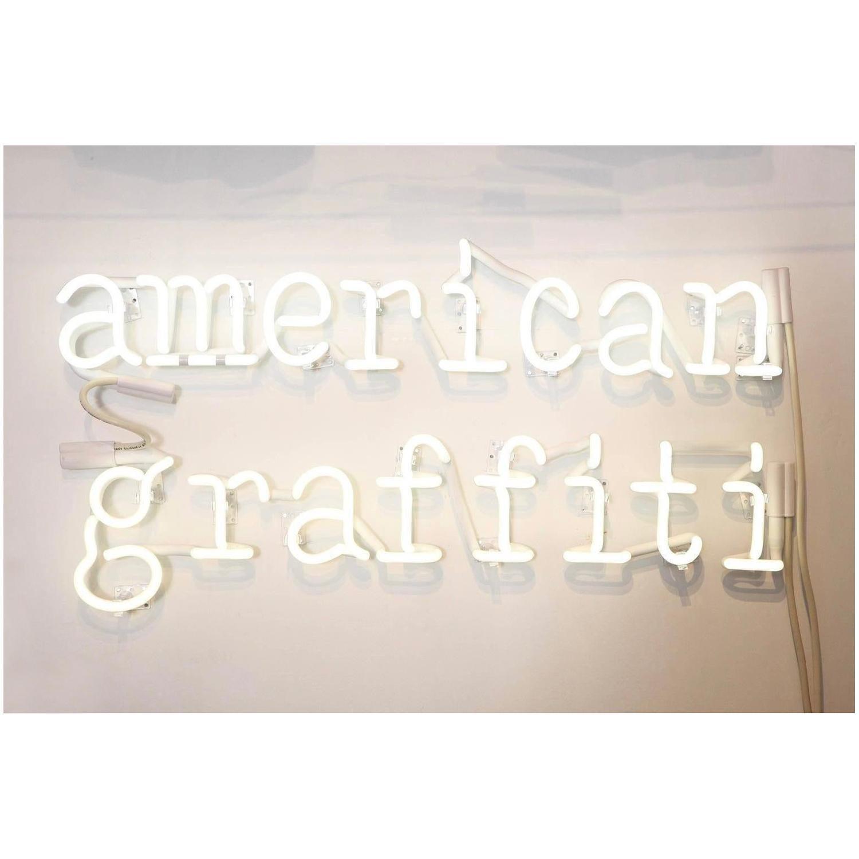 Peter Buchman American Graffiti Neon, 2021