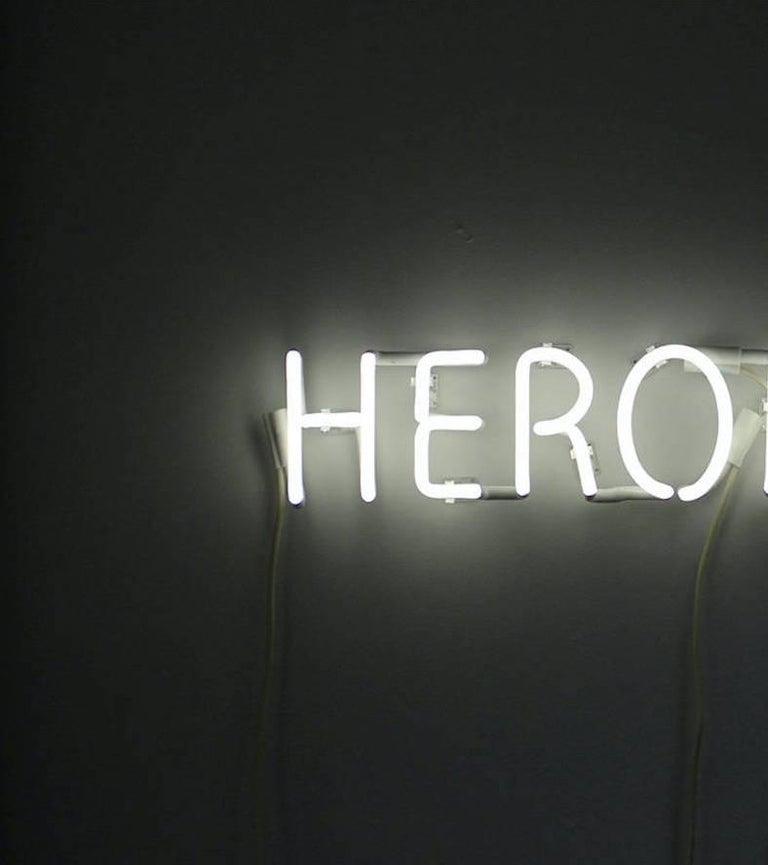 Modern Peter Buchman Heroine White Neon, 2021 For Sale