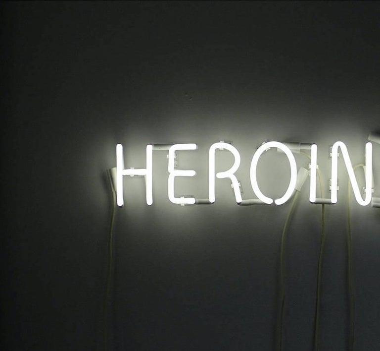 American Peter Buchman Heroine White Neon, 2021 For Sale