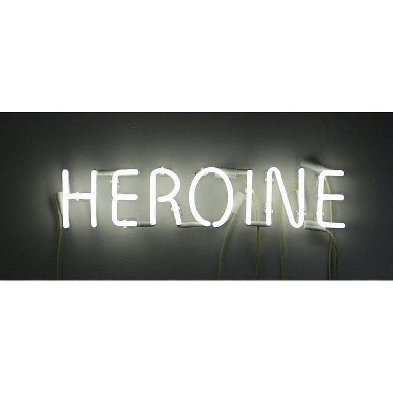 Peter Buchman Heroine White Neon, 2021 For Sale