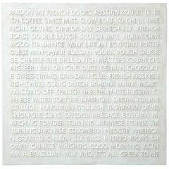 "Peter Buchman ""Pardon My French"", Enamel on Wood, 2018"