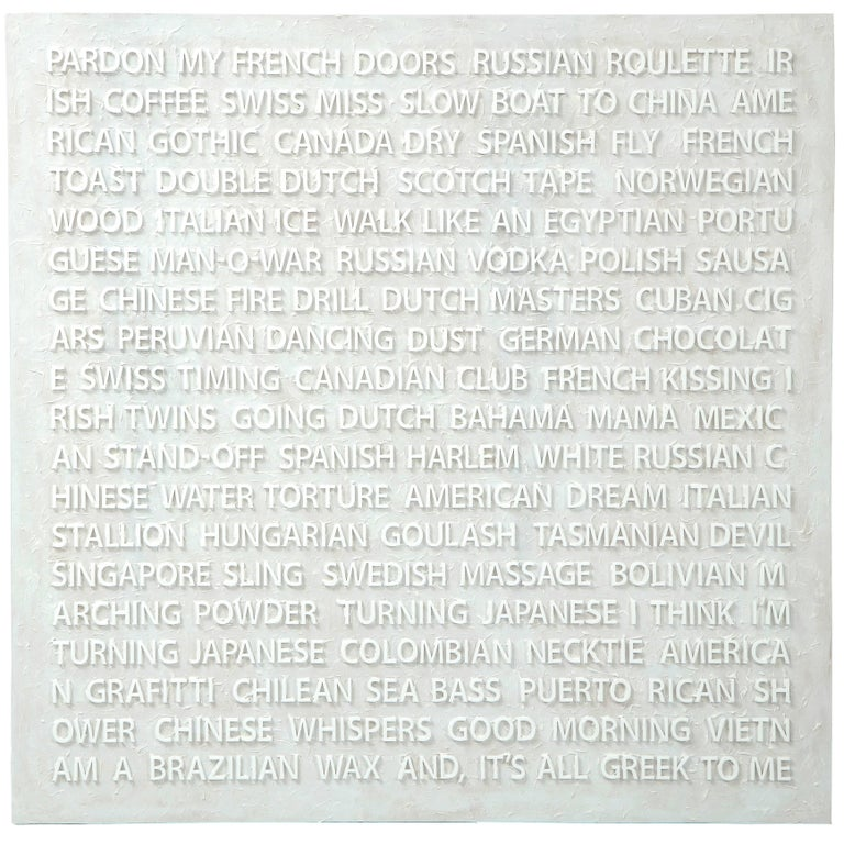 "Peter Buchman ""Pardon My French"", Enamel on Wood, 2018 For Sale"