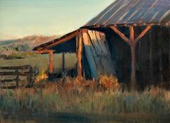 The Neighbor's Barn (rustic, reds, luminous)