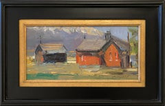 The Red Schoolhouse (abstract, historic, mountain town)