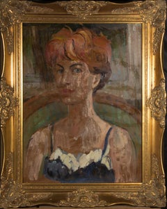 Peter Collins ARCA - Framed Mid 20th Century Oil, Portrait of a Woman