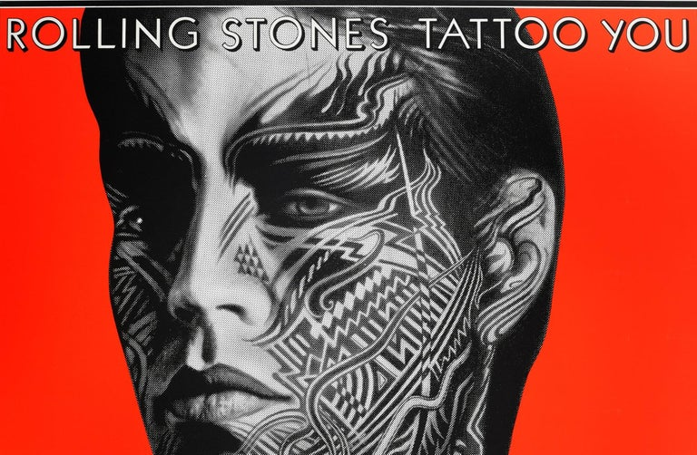 Original Vintage Mick Jagger Poster The Rolling Stones Tattoo You Album Design - Print by Peter Corriston
