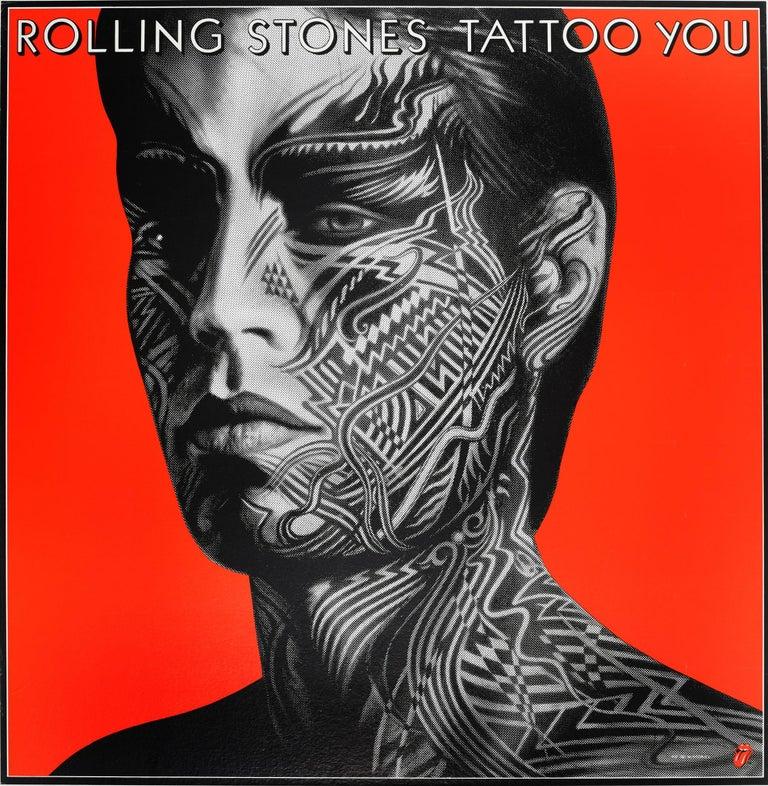 Peter Corriston Print - Original Vintage Mick Jagger Poster The Rolling Stones Tattoo You Album Design