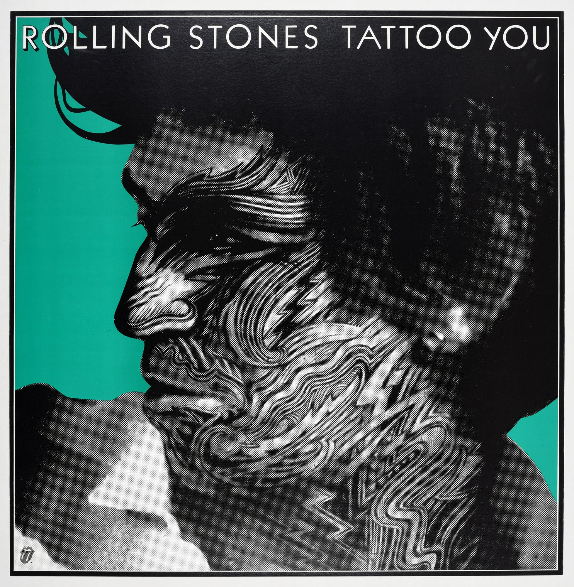 Original Vintage Poster The Rolling Stones Tattoo You Ft Keith Richards Design