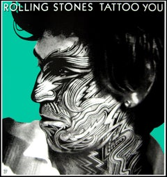 """""""Rolling Stones - Tattoo You (Keith Richards)"""" Original Vintage Music Poster"""