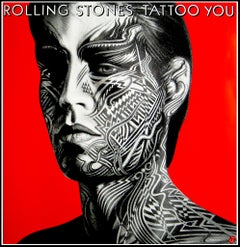 """""""Rolling Stones - Tattoo You (Mick Jagger)"""" Original Vintage Music Poster"""