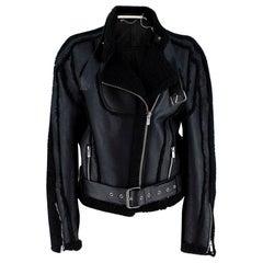Peter Do Black Car Seat Shearling Jacket - Size US 6