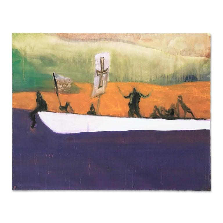 Peter Doig Abstract Print - Canoe, Contemporary Art, 21st Century, British Art