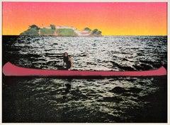 Canoe - Island, Contemporary, 21st Century, Silkscreen, Limited Edition