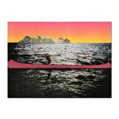 Canoe Island, Screen Print, Contemporary Art, 21st Century