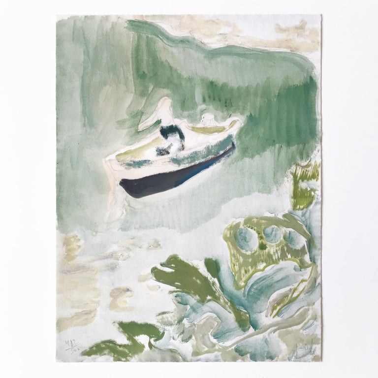 Peter Doig Landscape Print - Cyril's Bay, Pigment Print and Silkscreen, Contemporary Art, 21st Century