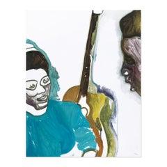 Two Students, Contemporary Art, British Artist, 21st Century