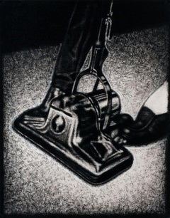 Pedal, black and white acrylic pop art genre painting, 2017