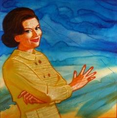 Vortex Mom, vintage pop art figurative acrylic painting, 2006