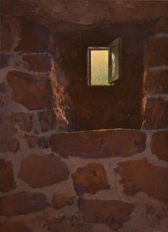 Basement Window - Peter Durieux, 21st Century Contemporary Acrylic Painting