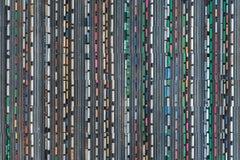 """Railroad Cars, Atlanta, Georgia X 36"" - Composite Image Photography - Cubism"