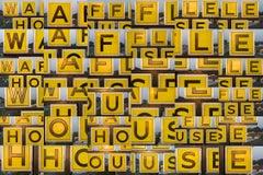 """Waffle House Sign, Georgia X 36"" - Composite Image Photography - Cubism"