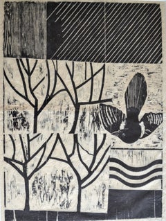The Magpie in the Orchard: Contemporary Print