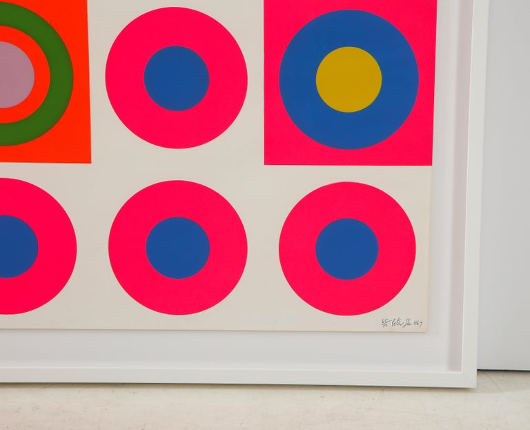 Peter Gee Pop Art Pink, Blue, Orange Screen-Print In Good Condition In New York, NY