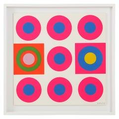 Peter Gee Pop Art Pink, Blue, Orange Screen-Print
